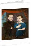 American Naive Portrait of a Boy and a Girl by Corbis