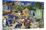 Painting of a Beach Scene by Maurice Brazil Prendergast