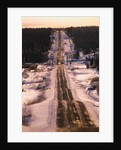Icy Section of Alaska Highway by Corbis