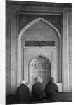 Men Praying at Qibla Niche by Corbis