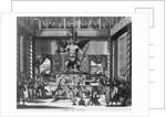 Viztlipuztli idolus Mexicaanorum (natives worshipping huge idol) by Corbis