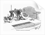Hughes' Telegraph Instrument Wood Engr. Harper's Weekly, 1858 by Corbis