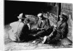 Vagrants Playing Cards in Railroad Car by Corbis