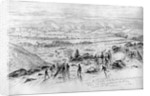 The Battle of Gettysburg - View from the Summit of Little Round Top on the Evening of Thursday, July 2, 1863 by Edwin Forbes