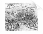 Indians Battling on San Maro by Theodor de Bry From America by Corbis