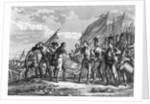 Engraving of the Battle of Saratoga, 1777, by F. Godfrey