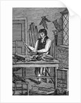 Illustration of a Cabinetmaker From Edward Hazen's Book of Trades by Corbis