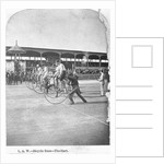 Starting Line of a Penny-farthing Bicycle Race by Corbis
