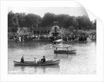 Boaters in Front of Bethesda Terrace, Central Park by Corbis