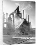 Blast furnance at the Bethlehem steel works in Pennsylvania. by Corbis