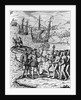 Eighteenth Century Etching of Christopher Columbus on Hispanola by Corbis