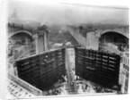 Construction of Panama Canal Locks by Corbis