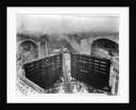 Construction of Panama Canal Locks by Corbis