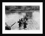 American Soldiers Crossing the Tuliahan River. by Corbis