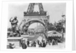Crowds at The Eiffel Tower by Corbis