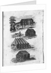 Eighteenth Century Illustration of Curing, Airing, and Storing Tobacco by Corbis