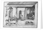 Eighteenth Century Chinese Drawing of a Butcher Shop by Corbis