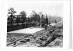 Construction of concrete road on section of National Highway, Durham County, NC by Corbis