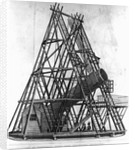 "Eighteenth Century Engraving ""View of Herschell's Forty Feet Telescope"" by Corbis"