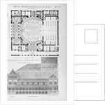 Competitive Design for the Metropolitan Opera House, New York, N.Y. Composite of 3 architectural drawings in American Architect and Building and Building News by Corbis