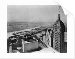 Eastern View of Singer Tower and Hudson River by Corbis