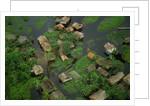 Arial View of Rainforest Village by Corbis