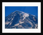 Snow Covered peak of Mount Rainier in the Cascade Mountain Range by Corbis