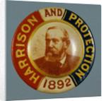 Benjamin Harrison Campaign Button by Corbis