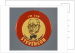 Stevenson Campaign Button by Corbis