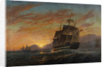 Merchantmen Off the Indian Coast at Dusk, 1867 by Charles Henry Seaforth