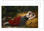 A Young Peasant Girl Sleeping by Leon Jean Bazile Perrault