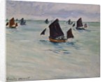 Fishing Boats off of Pourville by Claude Monet
