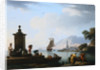 A View of the Harbor at Genoa Claude-Joseph Vernet by Corbis