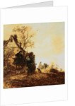 Peasants in a Cart by a Cottage by Jan Josephsz. van Goyen