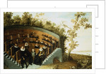 A Family Geneology Seated in an Amphitheater, in a Landscape by Herman Mijnerts Doncker