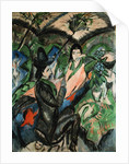 Couple Under Japanese Screen by Ernst Ludwig Kirchner