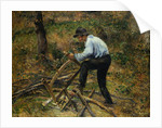 Father Sawing Wood, Pontoise by Camille Pissarro