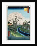 Cherry Blossoms, Tama River Embankment by Ando Hiroshige