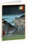Dawn in the Yoshiwara by Ando Hiroshige