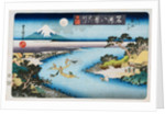 Autumn Moon, Tama River, from the Series Eight Views of Famous Places by Utagawa Toyokuni II