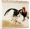 Cockerel, Hen and Chicks by Shibata Zeshin