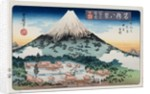 Evening Snow, Mt. Fuji from the Series Eight Views of Famous Places by Utagawa Toyokuni II