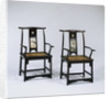 "A Set of Four Dali Marble-Inset Jichimu Yokeback Armchairs, ""Guanmaoyi"", 17th Century by Corbis"