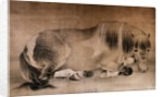 Melancholy Horse Qing Dynasty Scroll Painting by Corbis