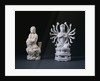 A Pair of Blanc-De-Chine Figures of Luohan and an Eighteen-Armed Guanyin by Corbis