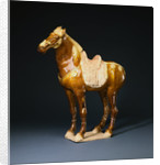 An Amber and Cream-Glazed Pottery Figure of a Horse by Corbis