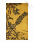 Bamboo, Pine and Peacocks. Hanging Scroll, 1752 by Shen Quan