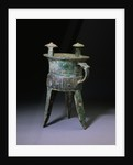 A Large Bronze Tripod Wine Vessel, Jia. Late Shang Dynasty by Corbis