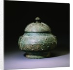 A Rare Bronze Wine Vessel and a Cover, Pou. Shang Dynasty by Corbis