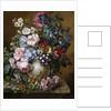A Vase of Flowers on a Ledge by Camille de Chantereine